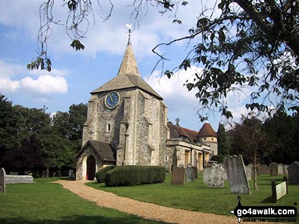 Walk su103 Box Hill from Westhumble - Mickleham Church