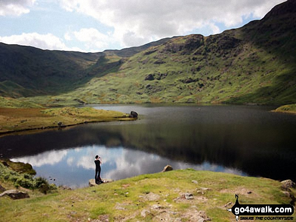 Easedale Tarn My boyfriend took a a photo of me taking photos after walking up to Easedale Tarn. Beautiful scenery.