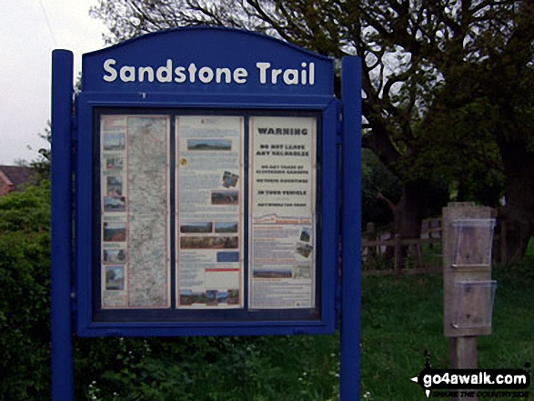 Sandstone Trail Information Board at Beacon Hill Car Park near Frodsham