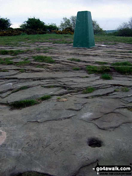 Helsby Hill summit trig point