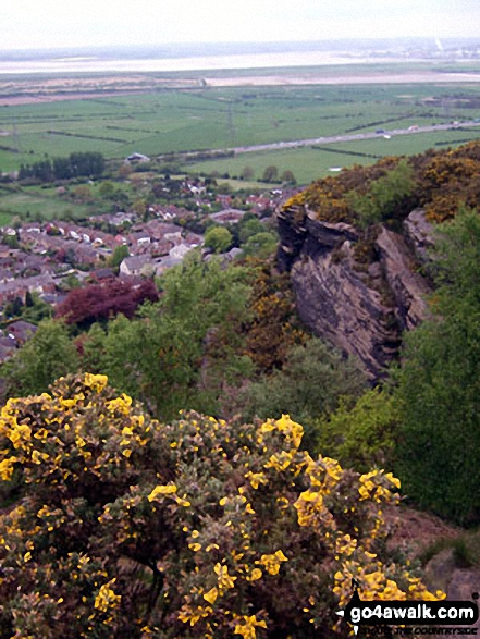 Helsby, The Mersey Estuary and Runcorn from Helsby Hill