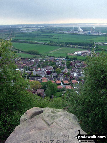 Helsby, Ellesmere Port and The Mersey Estuary from Helsby Hill