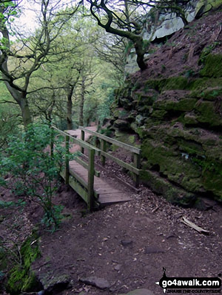 The Sandstone Trail in Woodhouse Hill Wood