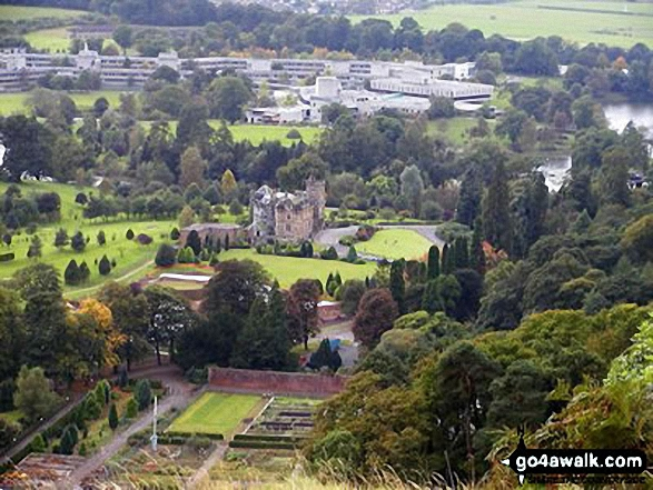 Airthrey Castle and Stirling University from Dumyat
