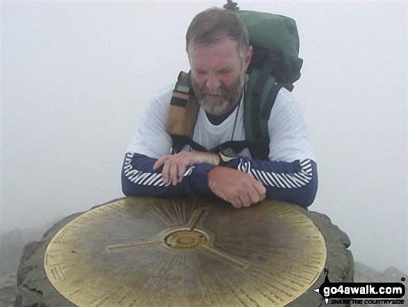 Derek Henderson on Snowdon in Snowdonia Gwynedd Wales