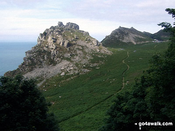 Castle Rock and Rugged Jack from the South West Coast Path ...