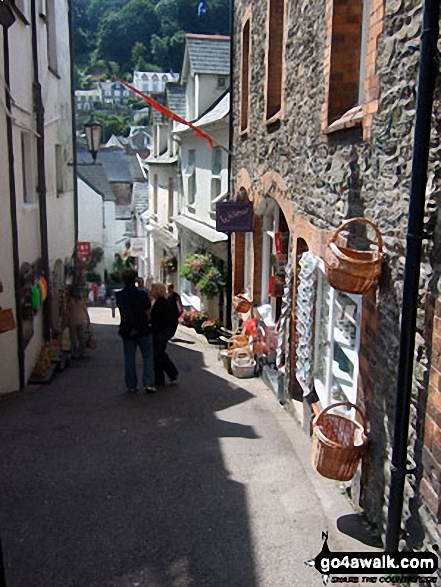 One of the narrow streets in Lynton