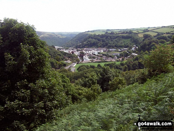 Lynton from the path up to The Danes or Valley of Rocks