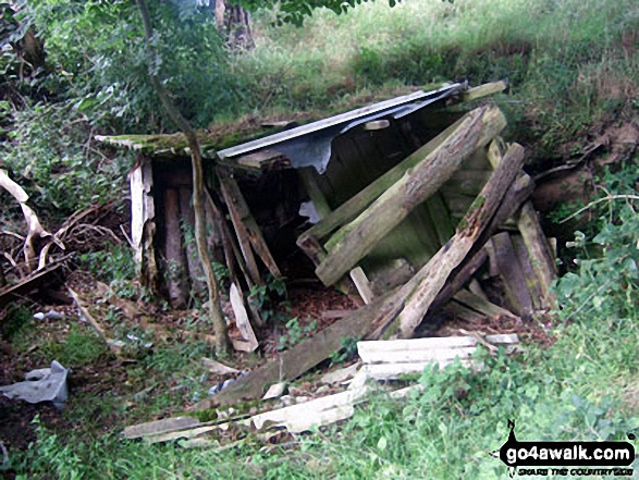 Collapsed Shed in the grounds of Croscombe Barton Farm near Lynton