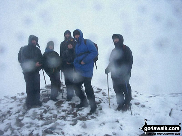 Me and the crew on Pen y Fan