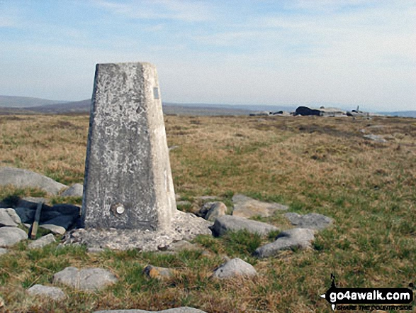 The summit of Mallowdale Fell (Ward's Stone),  the highest point in The Forest of Bowland and The South Pennines Photo: Des Ellwood