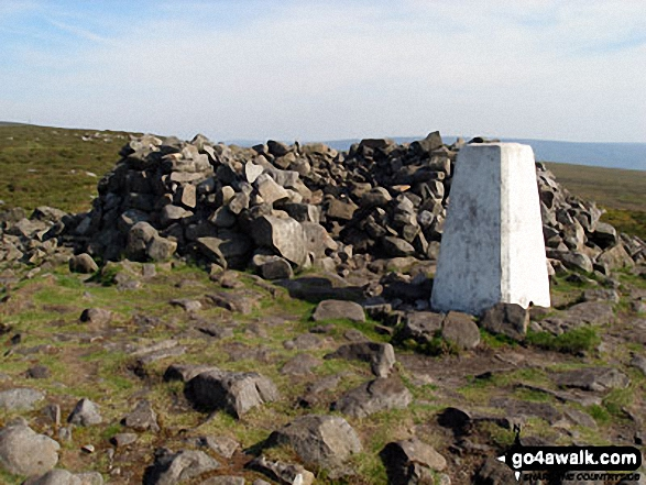 Clougha Pike summit trig point