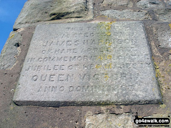 Stone plaque celebrating the Jubilee of Queen Victoria, Jubilee Tower on Abbeystead Fell
