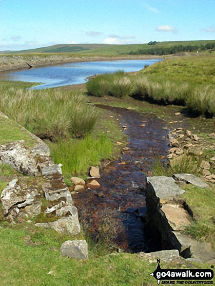 Disused Reservoir above Nenthead Mines Heritage Centre