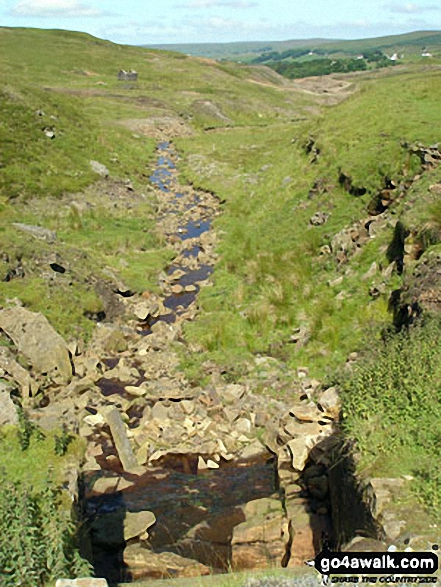 Nenthead Mines Heritage Centre from Old Carr's Burn