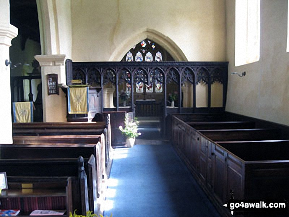The nave inside St. Bartholomew's Church, Blore