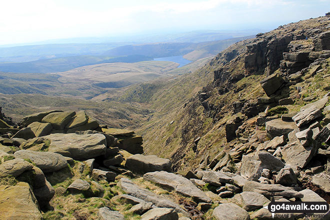 The view from the top of Kinder Downfall