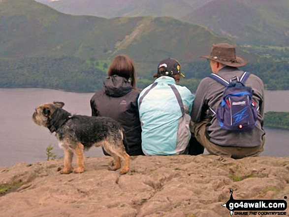 Overlooking Derwent Water to Cat Bells (Catbells) from near Walla Crag