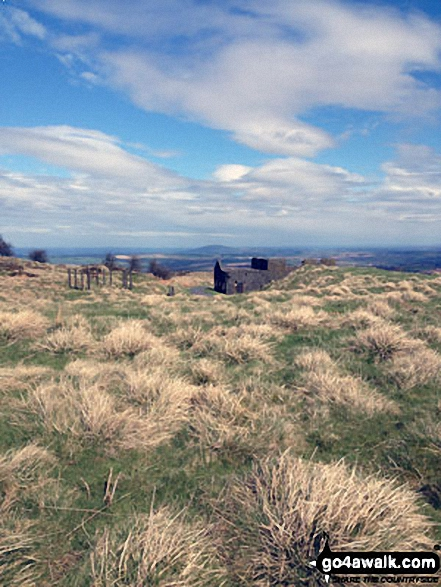 View today of The Wrekin from The Brown Clee Hill (Abdon Burf)