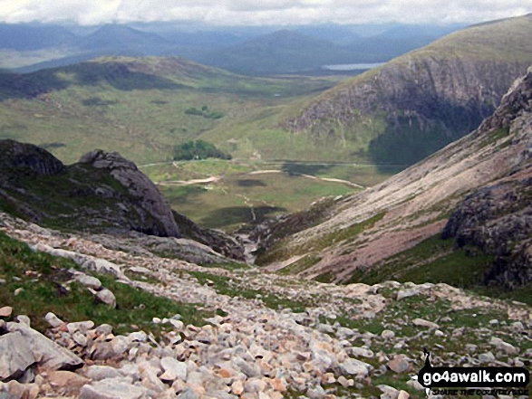 Altnafeadh in The Pass of Glen Coe with Beinn Bheag (left) and Beinn a' Chrulaiste (right) from Coire na Tulaich