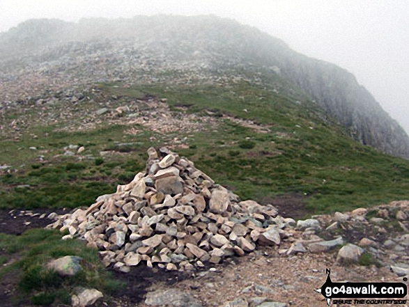 The Cairn at the top of Coire na Tulaich on Buachaille Etive M�r