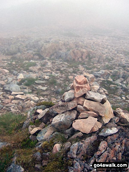 Cairn on the top of Feadan Ban (Buachaille Etive Mor)