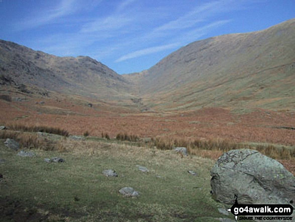 Stony Cove Pike (Caudale Moor), Threshthwaite Mouth and Thornthwaite Crag from Troutbeck Park