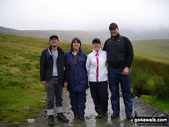 My family climbing Snowdon!. Walk route map gw126 Snowdon via The Llanberis Path photo