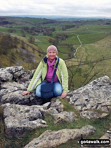On the top of Malham Cove