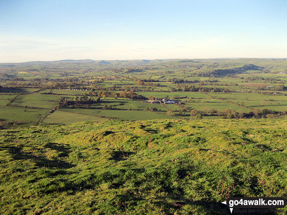 The glorious Staffordshire countryside from the summit of Narrowdale Hill