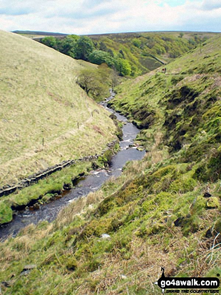 The River Dane in Danebower Hollow near Three Shires Head