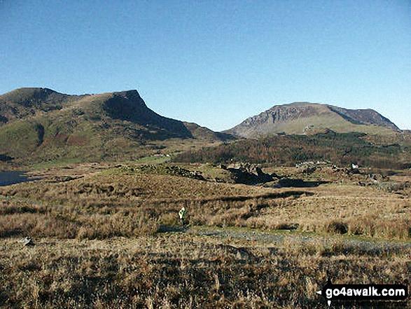 Mynydd Drws y Coed (far left), Y Garn (Moel Hebog Area) (left) and Mynydd Mawr (Llyn Cwellyn)  (right)