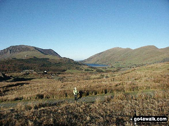Mynydd Mawr (Llyn Cwellyn)  (left), Llyn Cwellyn, Moel Eilio (Llanberis) (right) and Foel Gron (far right) from the Rhyd Ddu path