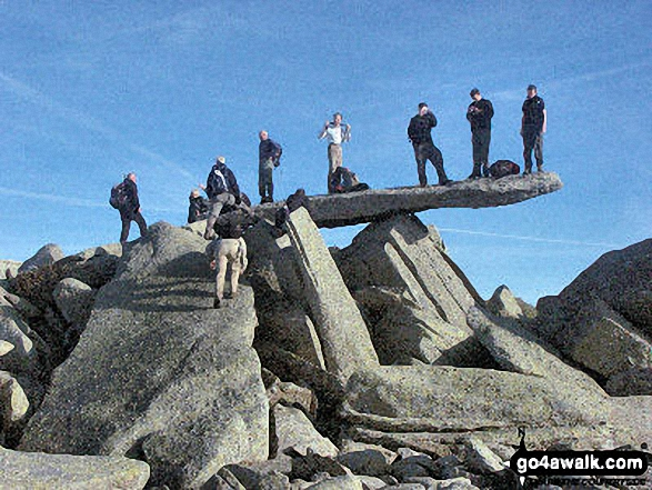The famous cantilever stone on Glyder Fach
