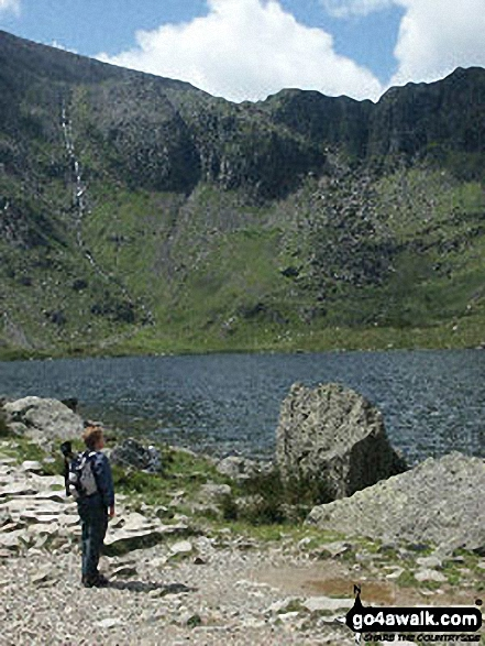 Llyn Idwal with Twll Du or The Devil's Kitchen beyond