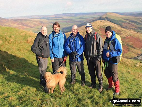 Mozzer, Rob, Jimbles, Big Truck and me on the Hollins Cross ridge below summit of Mam Tor