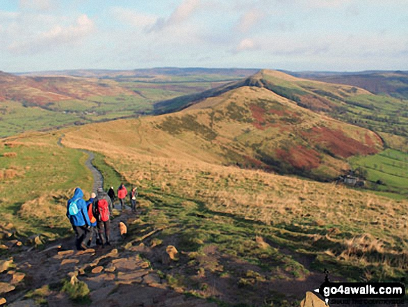 Heading towards Hollins Cross, Back Tor (Hollins Cross) and Lose Hill (Ward's Piece). Walk route map d158 Sparrowpit and Mam Tor from Castleton photo