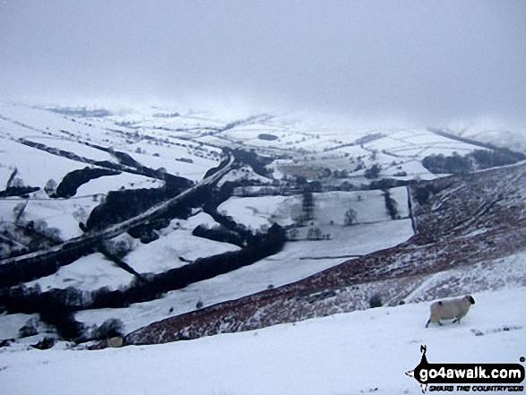 The Vale of Edale from Hope Bank, Winhill Pike (Win Hill) under a blanket of heavy snow