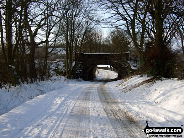 Railway Bridge near Hope Station in the snow