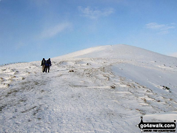 Climbing towards Lose Hill (Ward's Piece) from Hope in heavy snow
