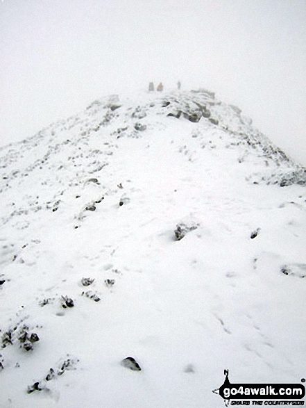 Deep snow on Winhill Pike (Win Hill) summit