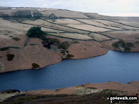 Winscar Reservoir from the lower slopes of Upper Dead Edge