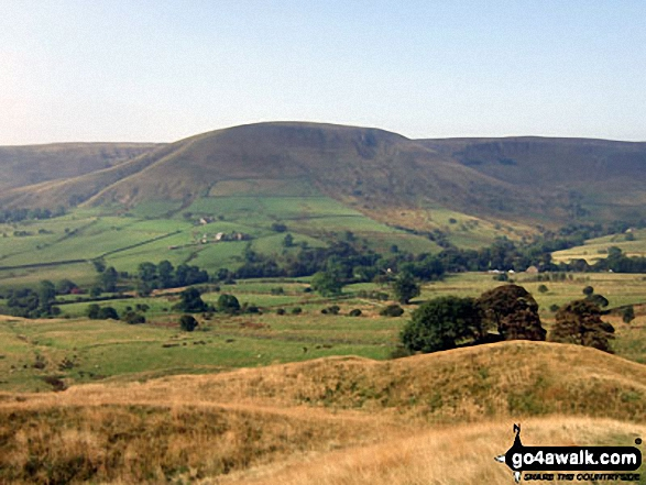 Brown Knoll (Edale) from The Pennine Way near Upper Booth. Walk route map d296 Jacob's Ladder and Kinder Scout from Edale photo