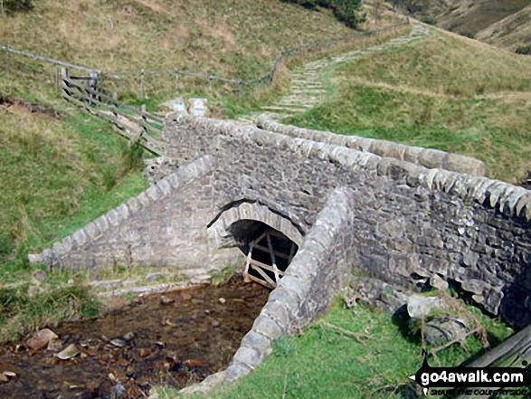 The footbridge carrying The Pennine Way at the foot of Jacob's Ladder (Edale)