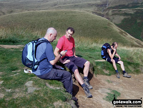 Pym Chair from the large cairn at the top of Jacob's Ladder (Edale). Walk route map d296 Jacob's Ladder and Kinder Scout from Edale photo