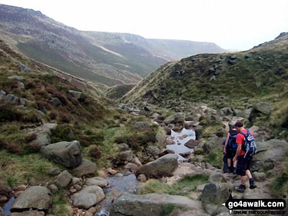 Descending Grindsbrook Clough