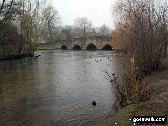 The River Wye at Bakewell. Walk route map d206 Monsal Dale and Ashford in the Water from Bakewell photo