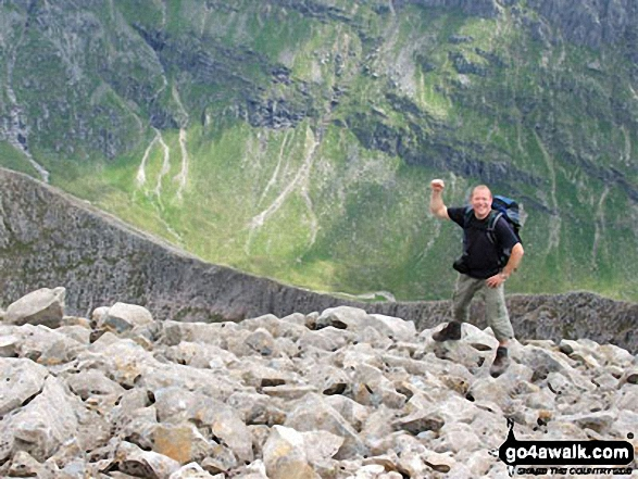 Approaching Ben Nevis summit via the SE shoulder on a clear day with Carn Mor Dearg (CMD) Arete in the background. Walk route map h100 Ben Nevis via The Tourist Path from Achintee, Fort William photo