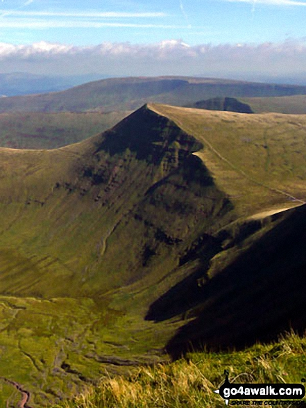 Cribyn and Craig Cwm Sere from Pen y Fan