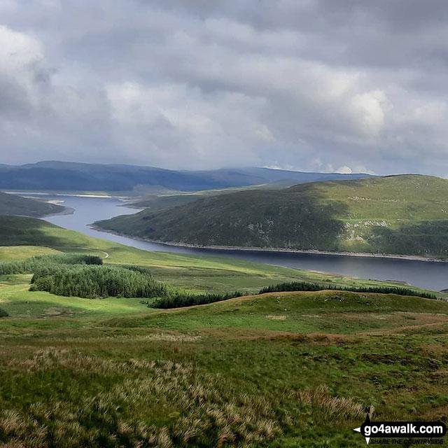 Nant-y-moch Reservoir from Pen Pumlumon Fawr (Plynlimon)